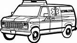 Coloring Ambulance Pages Printable sketch template