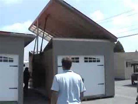 pop up garage raised roof pop up garage