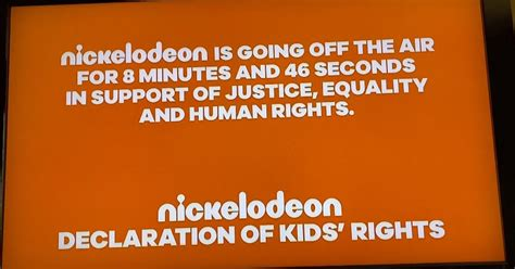 nickelodeon   air   minutes  protest