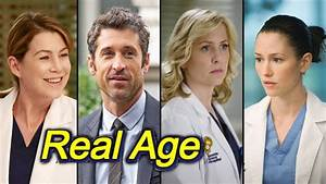 Real AGE Of Grey's Anatomy Actors - YouTube