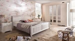 Bett 160x200 Weiß : bett 160x200 cm pina landhausstil weiss pinie teilmassiv geb rst 25 90 3p 52 ~ Indierocktalk.com Haus und Dekorationen