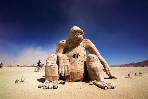 burning man giant gorilla sculpture