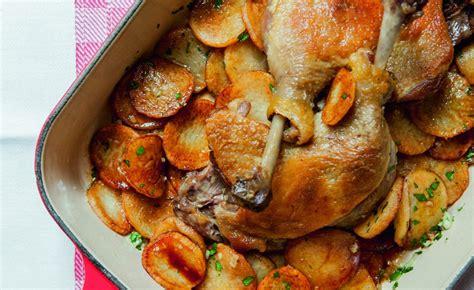 duck leg  potatoes recipe  alain ducasse