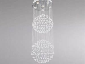 Luminaire design pour salon : Lustre double boule SAMPA