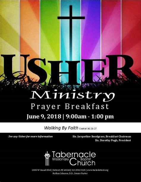 usher ministry prayer breakfast  place  belong