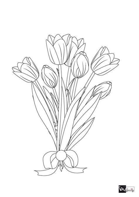 blumen malvorlagen tulpenstrauss blumen ausmalen