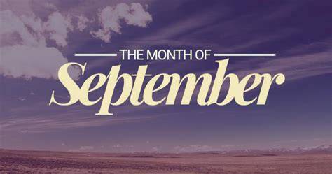 September – Ninth Month of the Year