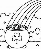 Shamrock Coloring Pot Pages Gold Rainbow Shamrocks Symbol Clipart Printable St Line Patricks Pancake Drawing Getdrawings Pages14 Cheshire Wonderland Alice sketch template