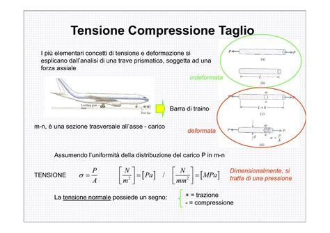 progettazione meccanica dispense tensione compressione taglio dispense
