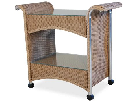 lloyd flanders wicker serving cart 1045