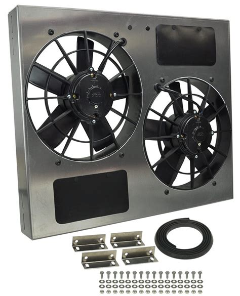 electric radiator fans for cars derale 16835 dual high output rad fan
