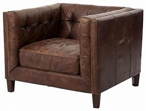 Abbott Distressed Leather Club Chair - Armchairs And ...