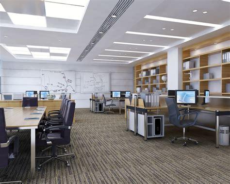 detailed office interior scene  model