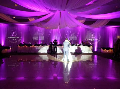 draping and lighting for wedding after events