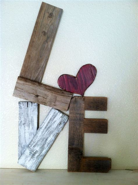 wood decor this is really cool rustic love reclaimed wood valentine home decor 36 00 via etsy