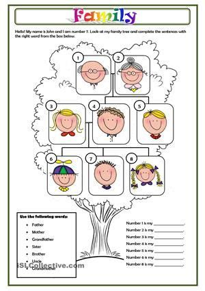 family  images family worksheet family tree