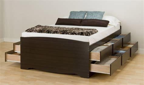 Bedroom Tall Platform Storage Queen Bed 12 Drawers New
