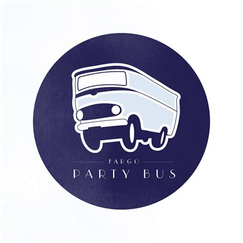 party bus logo fargo party bus logo concept on behance