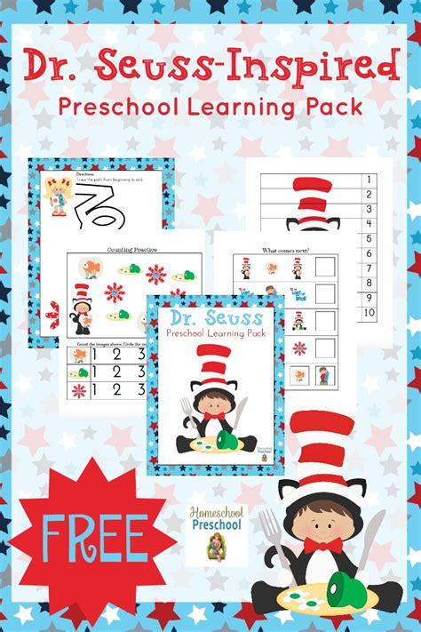 free learning free dr seuss inspired preschool learning pack free