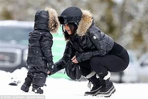 Kim Kardashian and North West hit the slopes in Montana on family vacation | Daily Mail Online