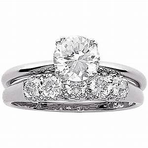 34 carat tgw cz wedding ring set in sterling silver for Walmart wedding rings