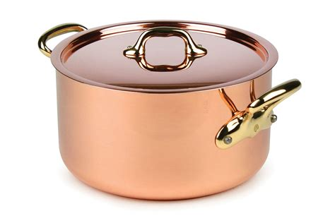 mauviel mheritage  mm copper stock pot  quart cutlery
