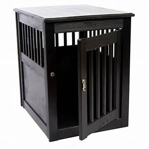 End table dog crate black baxterboo for Black dog crate end table