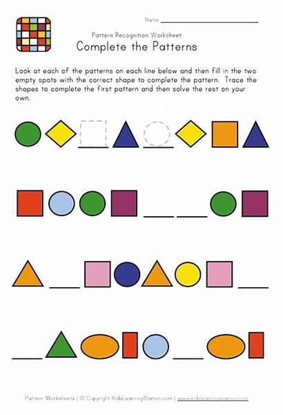 Patterns Pattern Shapes Worksheets Worksheet Math Difficult