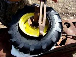 Mounting Directional Tread Tires On A Garden Tractor