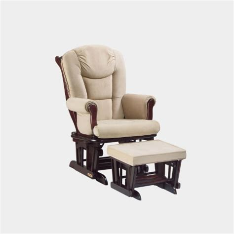 Shermag Rocking Chair With Ottoman by Shermag Glider Rocker Combo Espresso With Pearl Beige