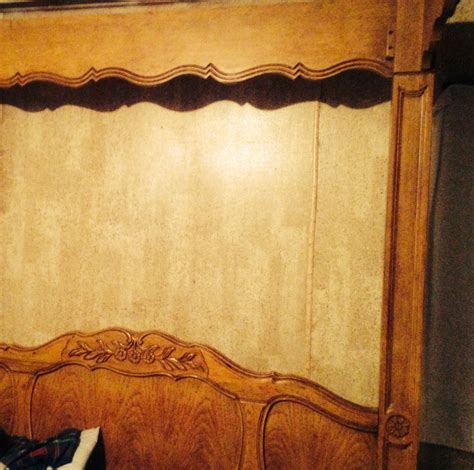 poster hand carved oak canopy bed