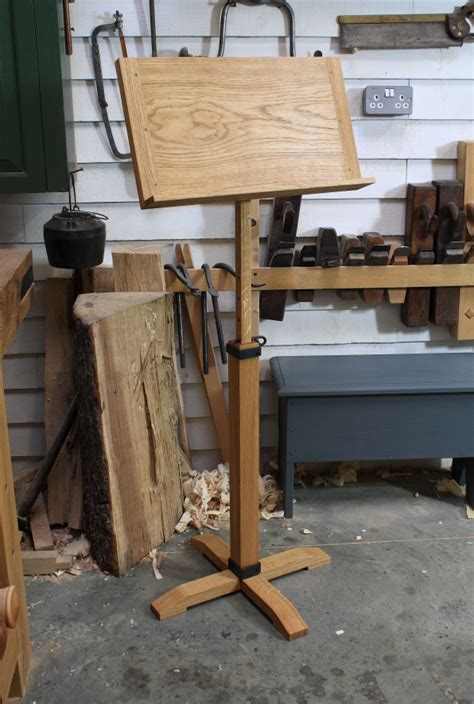 completed  stand  english woodworker