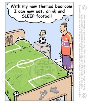 Football Cartoon  Football Themed Bedroom Cartoon