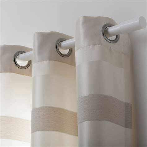 rideau blanc leroy merlin rideau tamisant edimbourg ivoire blanc taupe l 140 x h 270 cm leroy merlin