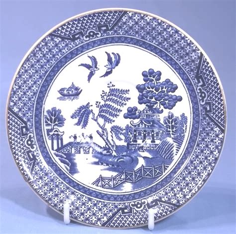 burleigh willow pattern cup  saucer collectable china