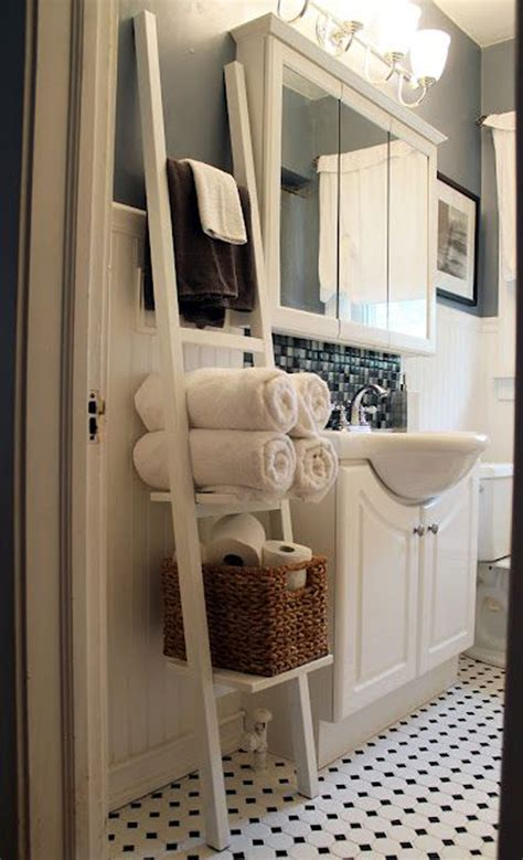 bathroom towel storage ideas    love