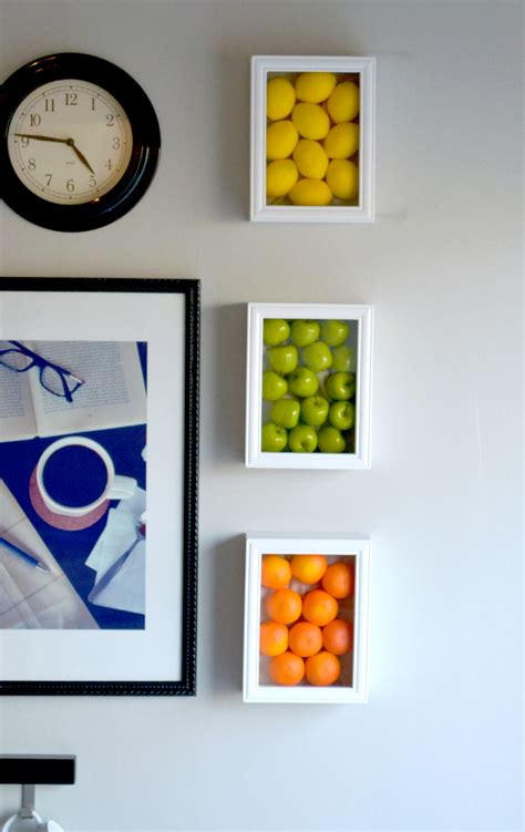 colorful wall decor colorful kitchen wall with fruits