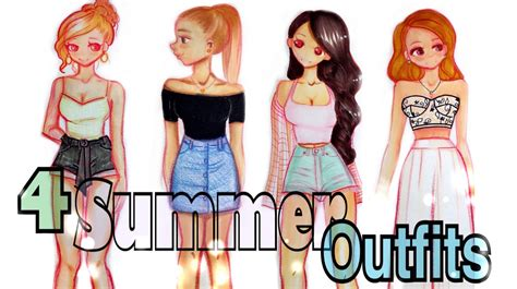 DRAWING 4 SUMMER OUTFITSud83dudc57 ud83dudc4c - YouTube