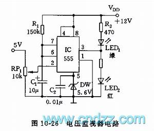 555 voltage monitor circuit 555 circuit circuit With voltage monitor
