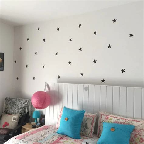 An alphabet led light of your child's initial or their complete name will make the best nursery wall décor. Cute Little Stars Wall Decals For Nursery Room Decor Removable Multiple Colored Star Stickers ...
