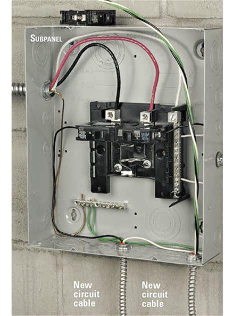 Installing Electrical Subpanel Better Homes Gardens