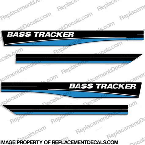 Bass Tracker Boat Graphics by Bass Tracker 16 Boat Decals Blue