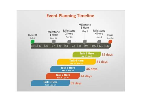 Timeline Template 13 by 33 Free Timeline Templates Excel Power Point Word