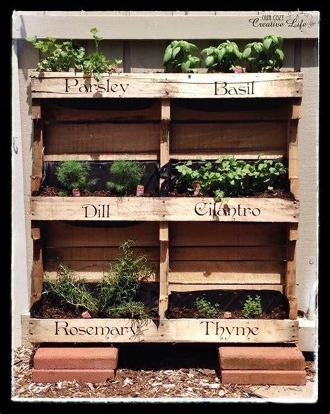 Vertical Herb Garden Pallet by Diy Pallet Herb Garden Ideas For Today Pallets Designs
