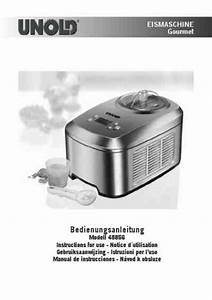 Unold 48856 Ice Cream Maker Download Manual For Free Now