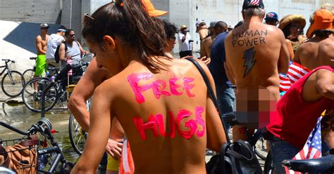 World Naked Bike Ride To Spread A Vision Of A Cleaner