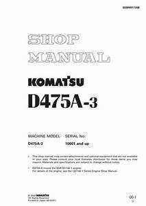 Komatsu Wa350 1 Wheel Loader Service Repair Workshop Manual Sn 10001 And Up