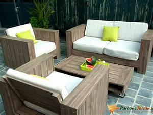 Salon Exterieur En Bois : salon de jardin bas en bois cosmos sur ~ Premium-room.com Idées de Décoration
