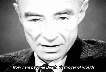 Oppenheimer Robert Manhattan Project Death Become Am
