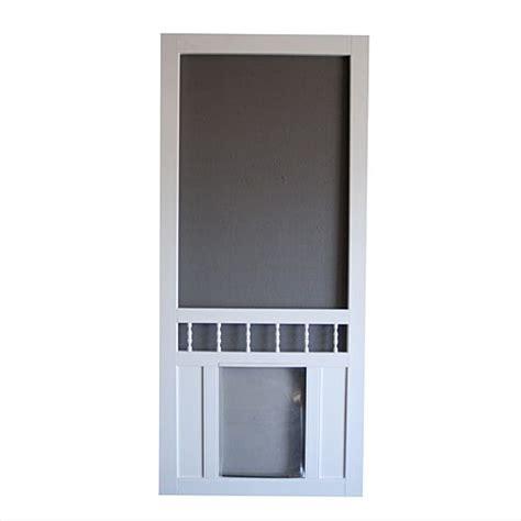 screen door with doggie door built in lowes screen door with door built in screen door